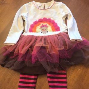 Turkey tutu dress with leggings